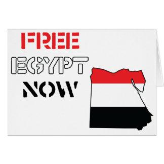Freies Ägypten jetzt Grußkarte