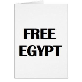 Freies Ägypten Grußkarten