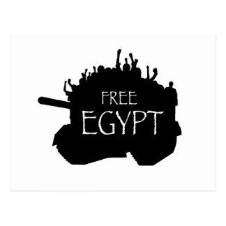 Freies Ägypten mit Protestierendern Postkarte