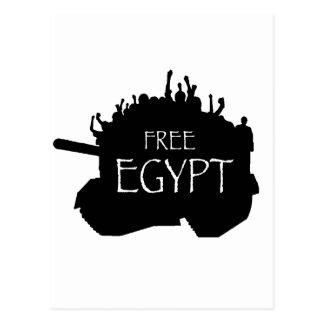 Freies Ägypten mit Protestierendern Postkarten