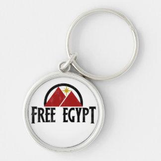 Freies Ägypten Silberfarbener Runder Schlüsselanhänger