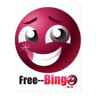 Freies Bingo-Maskottchen u. Logo Postkarten