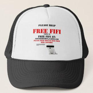 Freies Fifi das Bichon Frise Truckerkappe