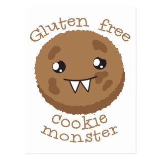 Freies Plätzchenmonster des Glutens Postkarte