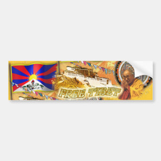 Freies Tibet Autoaufkleber