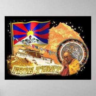 Freies Tibet Poster