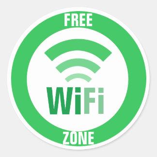 Freies WiFi-Zeichen Runder Aufkleber