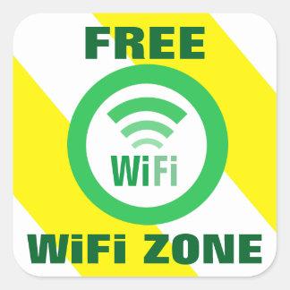 Freies WiFi-Zonen-Zeichen Quadratischer Aufkleber