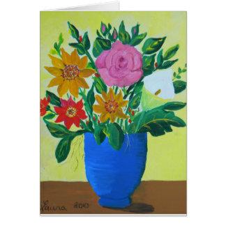 Freigebiger Blumenstrauß Grußkarte