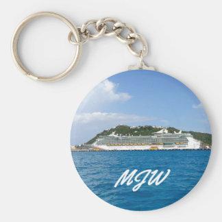 Freiheit in St Martin mit Monogramm Schlüsselanhänger