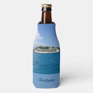 Freiheit in St Martin personalisiert Flaschenkühler