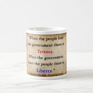 Freiheit über Tyrannei Tasse