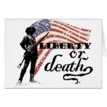 Freiheitoder TodesMinutemen Grußkarte