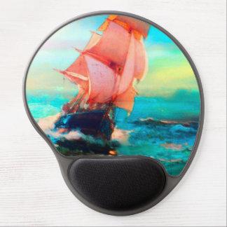 Freiheits-Bucht, Ozean-Segeln, Sonnenaufgang Gel Mouse Pad
