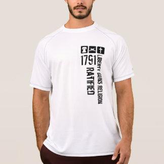Freiheits-Gewehr-Religion bestätigte 1791 B&W T-Shirt