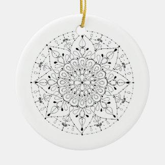 Freiheits-Mandala Rundes Keramik Ornament