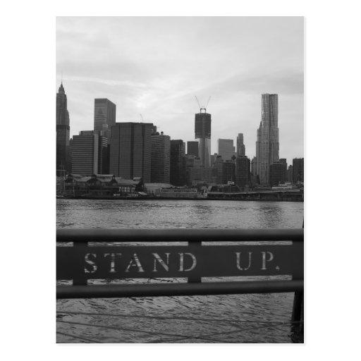 "Freiheits-Turm New York City - ""STEHEN Sie OBEN"" P Postkarte"
