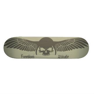 Freiheitshaltung Individuelle Skateboards
