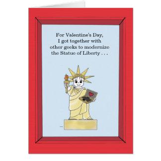 Freiheitsstatue aktualisiert - Valentinsgruß Karte