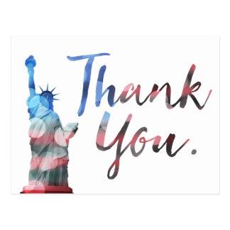 Freiheitsstatue danken Ihnen Veterane Postkarte