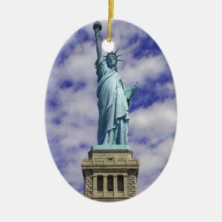 Freiheitsstatue, Ellis Island, New York Keramik Ornament