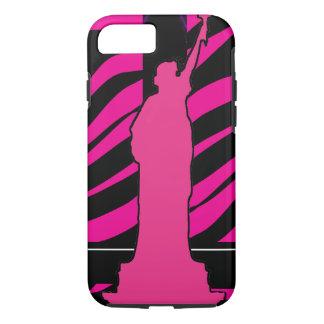 Freiheitsstatue im rosa und schwarzen iPhone 7 iPhone 7 Hülle
