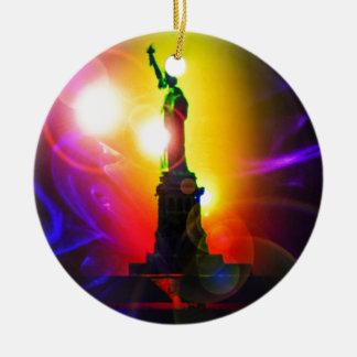 Freiheitsstatue  New York Rundes Keramik Ornament