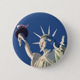 Freiheitsstatue Pop-Kunst Runder Button 5,7 Cm