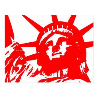 Freiheitsstatue Pop-Kunst USA-Symbol Postkarten