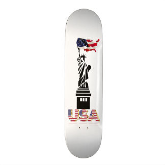 Freiheitsstatue wallend Flagge Skateboard Bretter