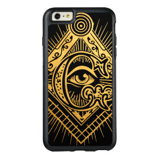 Freimaurer-goldener Symbol OtterBox iPhone Kasten OtterBox iPhone 6/6s Plus Hülle