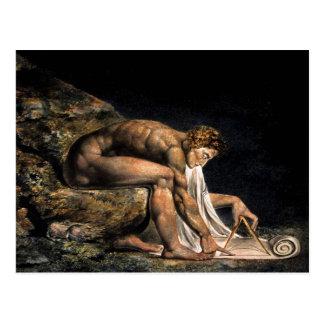 Freimaurermalerei Newtons William Blake Postkarte