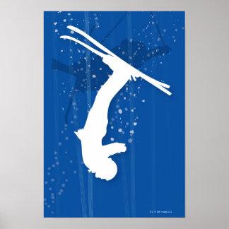 Freistil-Skifahrer Poster