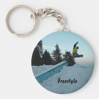 Freistil-Snowboarder Schlüsselanhänger