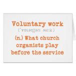 Freiwillige Arbeitskarte Grußkarten
