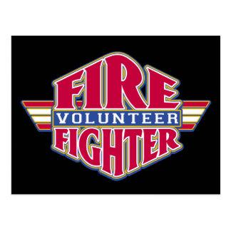 Freiwilliger Feuerwehrmann Postkarte