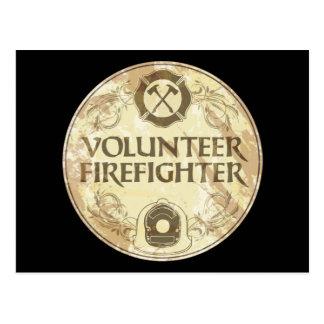Freiwilliger Feuerwehrmann-Schmutz Postkarte