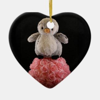 Frenchie der Pinguin Keramik Ornament