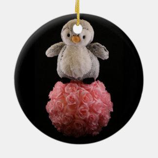 Frenchie die Pinguin-Verzierung Keramik Ornament