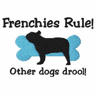 Frenchies-Regel gesticktes Shirt (T - Shirt)