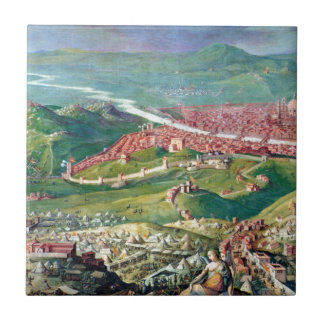 Fresko der Belagerung 1530 von Florenz durch Keramikfliese