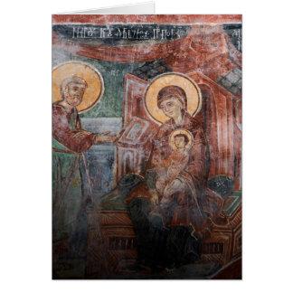 Freskos von der serbischen Kirche des 14. Karte