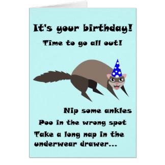 Frettchen-Geburtstags-Karte Grußkarte