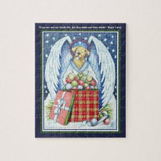 """Freude 8"""" des Bären Weihnachtsx 10"""" Puzzlespiel"""
