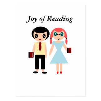 Freude an der Lesung Postkarte
