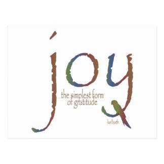 """""""Freude… die einfachste Form von Dankbarkeit """" Postkarten"""