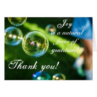 Freude ist Dankbarkeit danken Ihnen Grußkarte