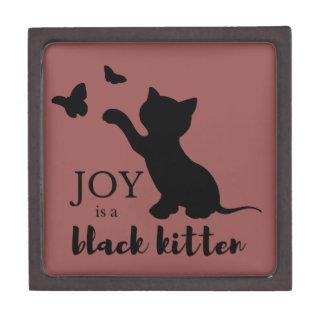 Freude ist ein schwarzes Kätzchen Schmuckkiste