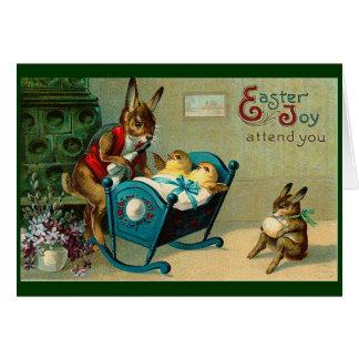 Freude Mais Ostern nehmen an Ihnen Vintag teil Karte