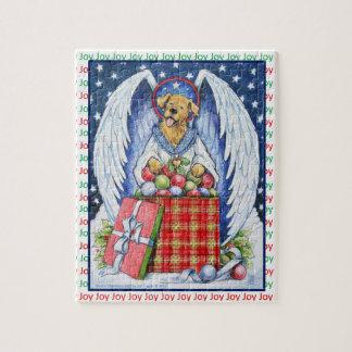 Freude-Puzzlespiel des Bären Weihnachts